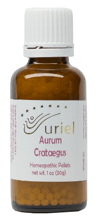 Homeopathic Remedy for Travel or Morning Sickness or Indigestion - Aurum Crataegus Pellets